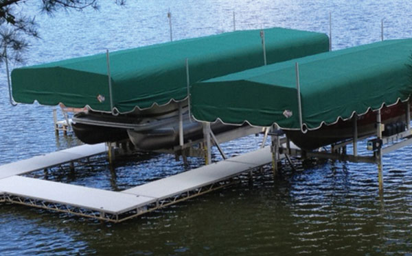 Boat Lift Canopy Systems For Vertical Boat Lifts